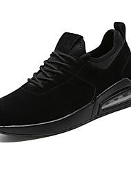 Masculino sapatos Couro Ecológico Primavera Outono Conforto Tênis Caminhada para Atlético Branco Preto Branco/Preto