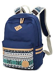 baratos -Mulheres Bolsas Tela de pintura mochila Estampa Azul / Preto / Rosa