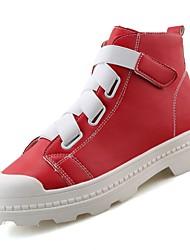 abordables -Homme Chaussures Gomme Automne / Hiver Confort Basket Blanc / Noir / Rouge