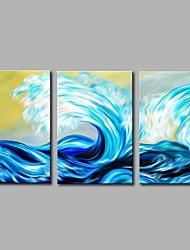 Hånd-malede Landskab Moderne Kanvas Hang-Painted Oliemaleri Hjem Dekoration Tre Paneler
