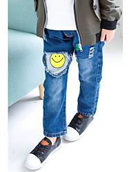 economico -Pantaloni Da ragazzo Cotone Poliestere Tinta unita Cartoni animati Primavera Autunno Semplice Blu