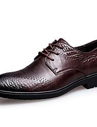 Masculino sapatos Pele Napa Inverno Outono Sapatos formais Oxfords para Casual Festas & Noite Preto Café