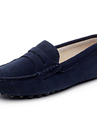 cheap -Women's Shoes Leather Spring / Summer Comfort Loafers & Slip-Ons Flat Heel Round Toe / Closed Toe Gray / Navy Blue / Royal Blue