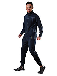 cheap -Men's Running Jacket Long Sleeves Fast Dry Quick Dry Softness Lightweight Stretchy Sweat-Wicking Breathability Tracksuit for