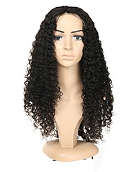 cheap -Remy Human Hair Full Lace Wig Brazilian Hair Jerry Curl With Baby Hair 130% Density Natural Hairline Women's Short / Medium Length Human Hair Lace Wig