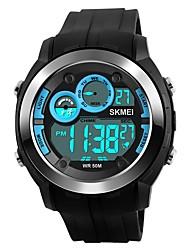 Недорогие -SKMEI Муж. Цифровой Спортивные часы Китайский Календарь Секундомер Защита от влаги Фосфоресцирующий PU Группа Роскошь На каждый день Мода