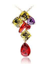 cheap -Women's Bohemian Crystal Zircon Pendant Necklace  -  Classic Bohemian Elegant Irregular Rainbow Necklace For Gift Formal