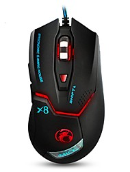 cheap -Colorful Breathing Lights Actually Wired Gaming Mouse X8 Computer Peripheral Glare