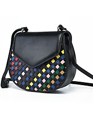cheap -Women's Bags Sheepskin Shoulder Bag Buttons for Event/Party Office & Career Spring Summer Black Rainbow