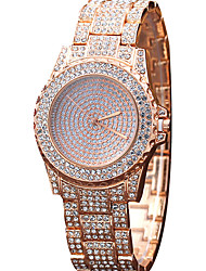 abordables -Mujer Reloj de Cristal Pavé Reloj de Pulsera Reloj de Moda Reloj Casual Cuarzo Gran venta Aleación Banda Encanto Lujo Creativo Casual