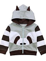 abordables -Pull à capuche & Sweatshirt Fille Couleur Pleine Coton Toutes les Saisons Manches longues simple Dessin Animé Gris