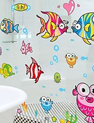 economico -bella piccola camera da letto caldo divertenti adesivi di cartone animato piastrelle di vetro bagno impermeabile