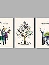 Strukket Lærred Print Rustikt,Tre Paneler Kanvas Print Vægdekor Hjem Dekoration