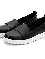 cheap -Women's Shoes Synthetic Microfiber PU Spring Fall Comfort Loafers & Slip-Ons Walking Shoes Flat Heel Round Toe Null Stitching Lace For