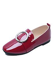 abordables -Femme Chaussures Polyuréthane Printemps / Eté Confort Sandales Talon Bas pour Blanc / Noir / Rouge