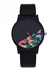 Недорогие -Муж. Повседневные часы Модные часы Уникальный творческий часы Кварцевый Кожа Черный / Синий / Зеленый Защита от влаги Секундомер Повседневные часы Аналоговый Цветы Элегантный стиль Рождество -