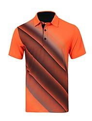 Per uomo Manica corta Golf T-shirt Allenamento Traspirabilità Golf