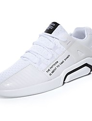 Masculino sapatos Tule Primavera Outono Conforto Tênis Caminhada para Atlético Branco Preto Cinzento