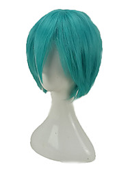 cheap -Synthetic Wig Curly Layered Haircut Density Capless Men's Green Party Wig Cosplay Wig Short Synthetic Hair