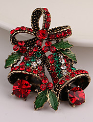 cheap -Men's Women's Brooches Rhinestone Vintage Imitation Diamond Alloy Bowknot Jewelry For Christmas Gift