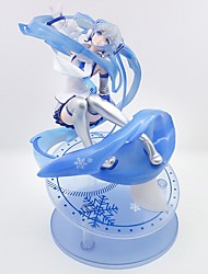 cheap -Anime Action Figures Inspired by Vocaloid Snow Miku PVC CM Model Toys Doll Toy Men's Women's