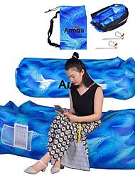 Недорогие -Надувной диван Надувной спальный коврик На открытом воздухе Походы Складной Терилен Полиэстер Отдых и Туризм Путешествия для 1 человек Весна Лето Осень Небесно-голубой Зеленый Синий