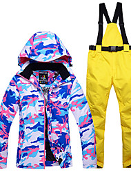 cheap Sports & Outdoors-Snowy Owl Women's Ski Jacket with Pants Waterproof Thermal / Warm Windproof Ski / Snowboard Winter Sports Polyester Clothing Suit Ski Wear