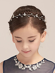 cheap -Imitation Pearl Rhinestone Headbands Flowers with Scattered Bead Floral Motif Style 1pc Wedding Party / Evening Headpiece