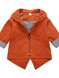 cheap -Girls' Solid Suit & Blazer,Cotton Long Sleeves Cute Cartoon Green Orange Blushing Pink