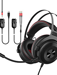 cheap -AJAZZ THE ONE Headband Wired Headphones Planar Magnetic Metal Gaming Earphone with Volume Control with Microphone Stereo Headset