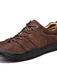 Недорогие -Муж. обувь Наппа Leather Осень / Зима Удобная обувь Спортивная обувь Для пешеходного туризма Черный / Кофейный