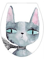 Недорогие -Животные Мода Наклейки Простые наклейки Декоративные наклейки на стены Наклейки для туалета,Винил Украшение дома Наклейка на стену Унитаз