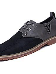 abordables -Homme Chaussures Gomme Automne / Hiver Confort Oxfords Marche Bottine / Demi Botte Noir / Gris / Marron