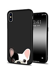 billige -Etui Til Apple iPhone X iPhone 8 Plus Mønster Bagcover Hund Blødt TPU for iPhone X iPhone 8 Plus iPhone 8 iPhone 7 Plus iPhone 7 iPhone