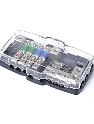cheap -Multi-functional LED Car Audio Stereo Mini ANL Fuse Box With 4 Way Fuse block 30A 60A 80Amp and Battery Distribution 0/4ga