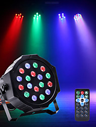 U'King LED Stage Light / Spot Light LED Par Lights DMX 512 Master-Slave Sound-Activated Auto for Party Stage Wedding Club Professional