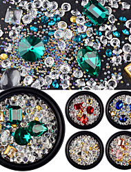cheap -Rhinestones Glass Beads Rhinestones Fashion Sparkle & Shine Royal Blue Multi-colored Ruby Blue Gold Green Pink Transparent Multi-Colored