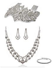 cheap -Women's Rhinestone Imitation Diamond Jewelry Set Body Jewelry 1 Necklace Earrings - Fashion European Hair Combs Bridal Jewelry Sets For