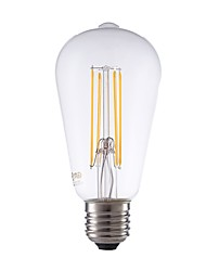 abordables -GMY® 1pc 6W 600lm E27 Ampoules à Filament LED ST64 4 Perles LED COB Intensité Réglable Edison Ampoule Décorative Lampe LED Blanc Chaud