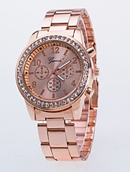 cheap -Women's Couple's Quartz Wrist Watch Chinese Casual Watch Alloy Band Luxury Casual Fashion Cool Silver Gold Rose Gold