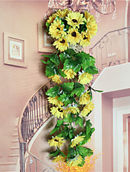 cheap -1 Branch Plastic Sunflowers Tabletop Flower Artificial Flowers