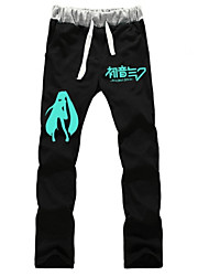 cheap -Inspired by Vocaloid Hatsune Miku Anime Cosplay Costumes Cosplay Tops / Bottoms Solid Colored Pants For Men's Women's