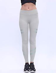 abordables -Pantalones de yoga Leggings Yoga Media cintura Eslático Ropa deportiva Mujer Yoga Jogging Pilates Casual Deportes Múltiples