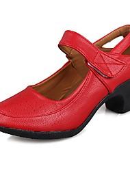 "cheap -Women's Modern Leatherette TPU Heel Training Cuban Heel Red 1"" - 1 3/4"" 2"" - 2 3/4"" Customizable"