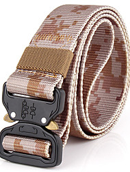 cheap -Men's Work Casual Alloy Waist Belt - Camouflage, Pure Color