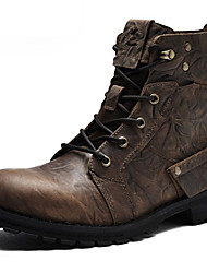 cheap -Men's Shoes Nappa Leather Winter Fall Cowboy / Western Boots Fashion Boots Combat Boots Boots Booties/Ankle Boots for Casual Outdoor