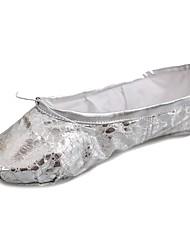 economico -Per donna Scarpe da danza classica Vernice / Finta pelle Ballerine Piatto Personalizzabile Scarpe da ballo Argento / Prestazioni
