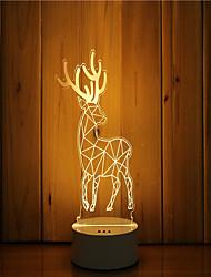 cheap -1 Set Of 3D Mood Night Light Hand Feeling Dimmable USB Powered Gift Lamp Deer
