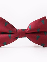 cheap -Men's Polyester Bow Tie,Work Casual Christmas Spring, Fall, Winter, Summer Red Black