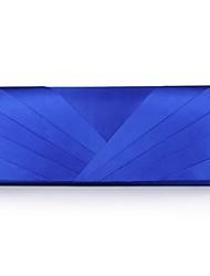 abordables -Femme Sacs Soie Sac de soirée Etagée Blanc / Argent / Bleu royal